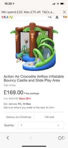 CHILDRENS JUNGLE BOUNCY CASTLE £143.65 with code at  Tesco on eBay