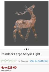 Large Reindeer Christmas light. Less than half price - £29 + £4.50 Delivery @ Laura Ashley