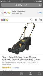 Petrol lawnmower Tesco eBay outlet - £41.65 with code