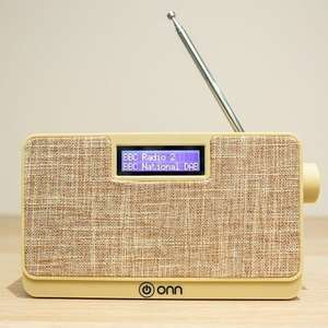 ONN DAB+ Digital Radio with Backlit LCD Display £14.99 delivered (Blue OR Cream) @ eBay / Cheapest_electrical
