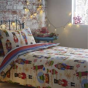 Toddler Christmas nutcracker bedding set £4.99, single Christmas bed sets £7.50, double £9.99, King size £12.50 @ eBay sold by tonystextiles