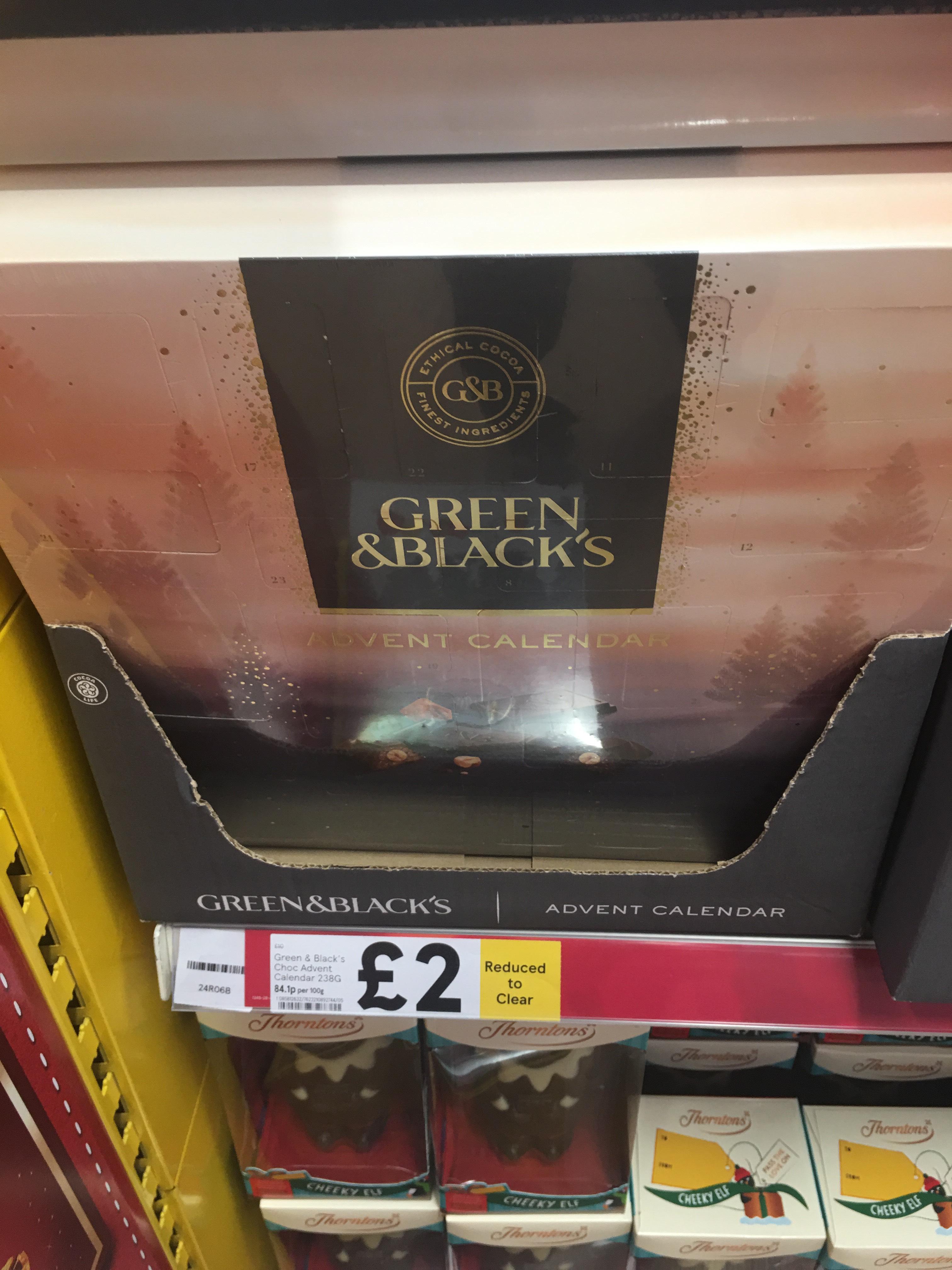 Green & Black's Luxury Chocolate Advent Calendar 239g @ Tesco Extra Bradford Canal Road - £2