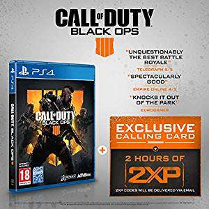 Call of duty: Black ops 4 plus 2 hours of 2XP on PS4 - £33.99 Amazon
