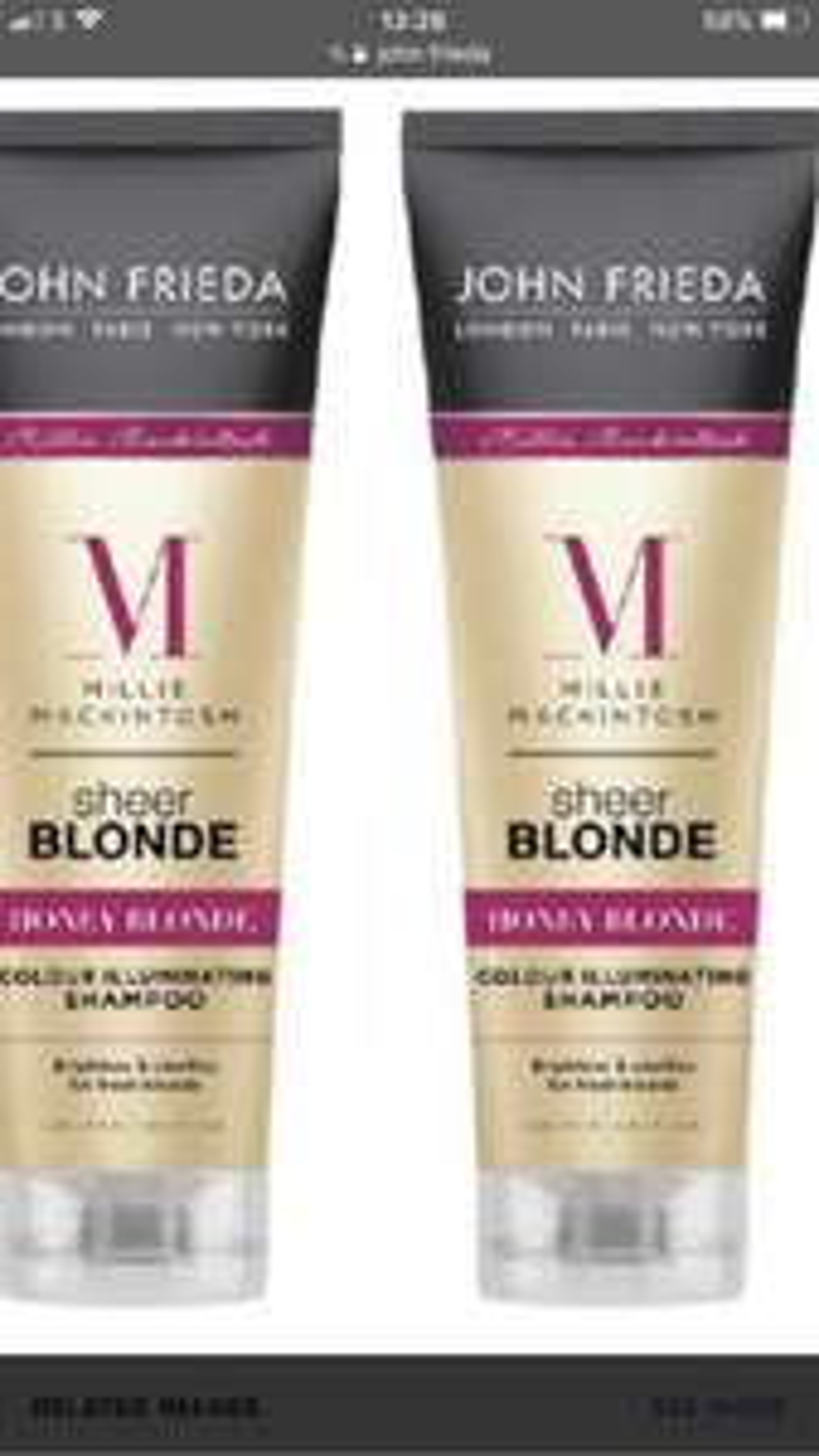 Free John Frieda Shampoo and Hair Colour