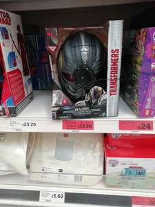 Transformers voice changer mask reduced to clear £13.50  Sainsbury's