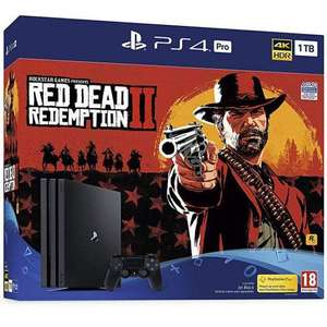 PLAYSTATION 4 PRO CONSOLE 1TB WITH RED DEAD REDEMPTION 2