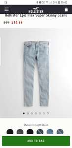 Hollister Super Skinny Jeans Various Sizes Now £14.99 / £19.99 delivered @ Hollister
