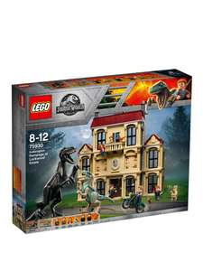 Jurassic World 75930 Indoraptor Rampage at Lockwood Estate down to £69.99 at Very