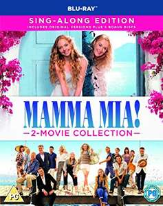Mamma Mia: Here We Go Again! - 2 Movie Blu-Ray Boxset - with Sing Alongs & 2 Hours Bonus Content - £13.99 prime / £16.98 non prime @ Amazon