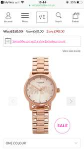 Ladies rose gold Coach watch reduced from £150 to £60 at Very exclusive