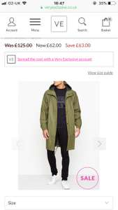 Men's Rains designer waterproof Parker coat reduced from £125 to £62 at Very exclusive