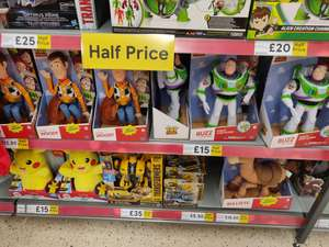 Toy story toys half price at tesco instore e.g Buzz figure £15