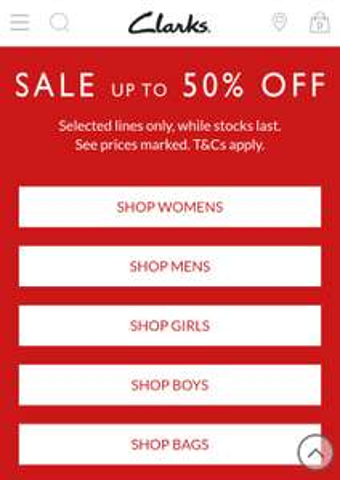 Clarks Christmas Sale