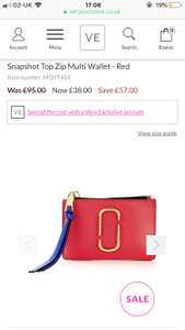 Marc Jacobs ladies wallet, great stocking filler. Reduced from £95 to £38 at Very exclusive