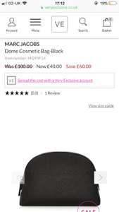 Marc Jacobs's domed cosmetics bag, great stocking filler. Reduced from £100 to £40 at Very exclusive