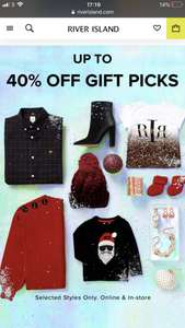 RIVER ISLAND up to 40% off many winter warmers
