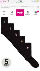 Pack of 5 embroidered Christmas socks, if you need any more!! Half price at Very only £6