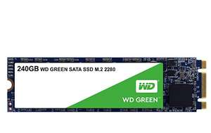 Western Digital WDS240G2G0B WD 240 GB Internal SSD M.2 SATA, Green £34.97 @ Amazon