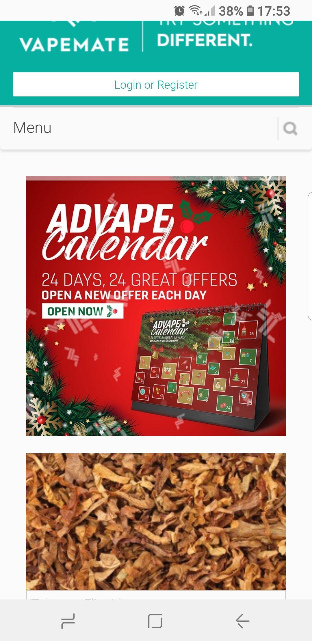 Advent for e-cig smokers