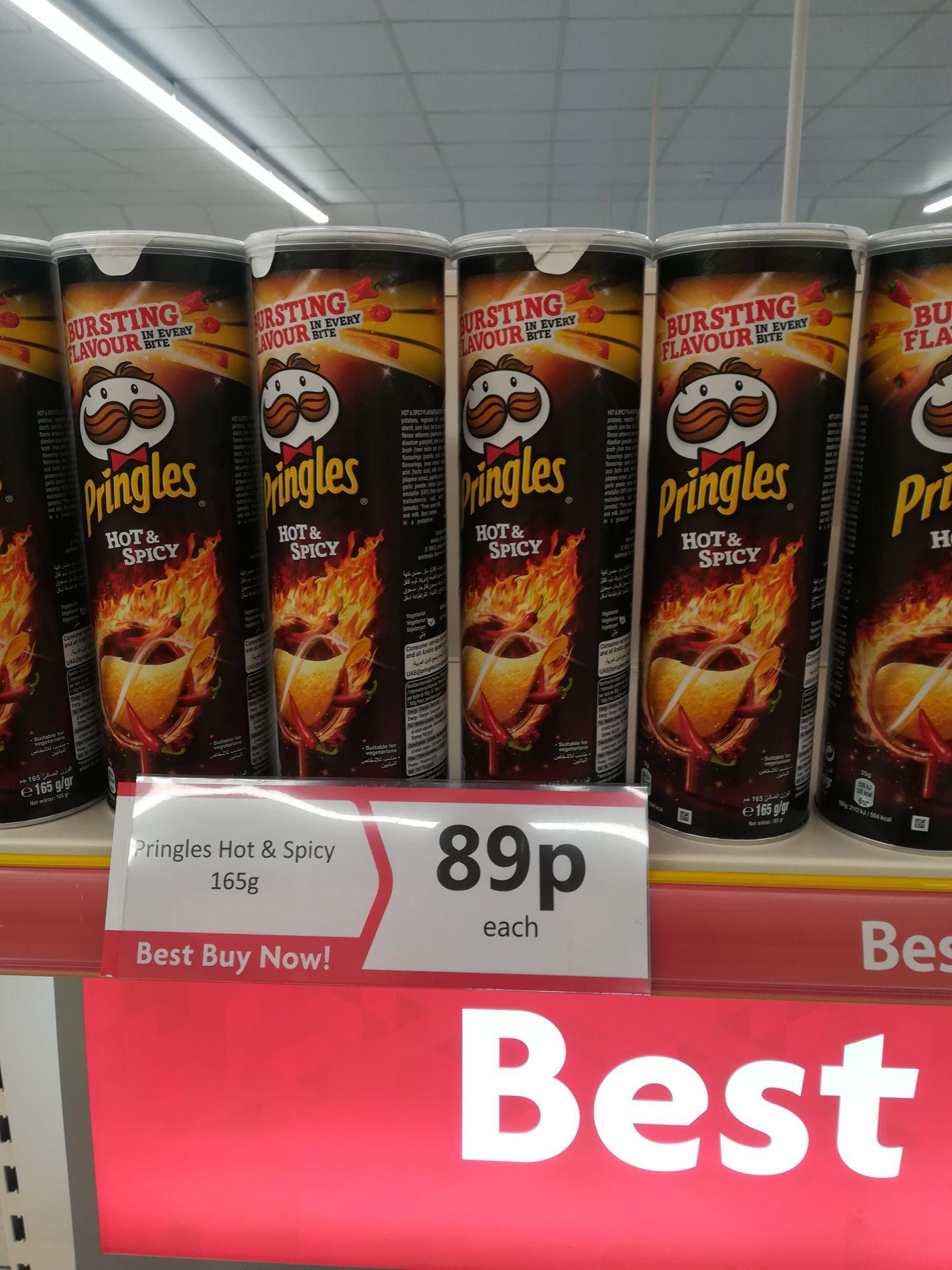 Pringles hot & spicy @ heron 89p