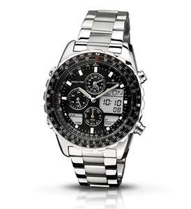 Accurist MB775B Black Dial Chronograph Display and Silver Stainless Steel Bracelet - £73.72 @ Amazon