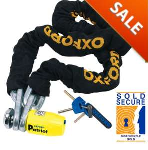 Oxford Patriot 12mm Lock and Chain 1.5m £62.99 @ M&PDirect