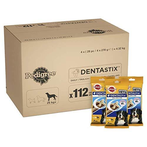 Pedigree Dentastix Dog Treats Dental Chews Dental Care for Large Dogs Total of 112 Chews @ Amazon £16.99 Prime £21.48 Non Prime.