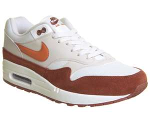 Nike Air Max 1 Trainers Sail Vintage Coral Mars Stone £60 @ Office