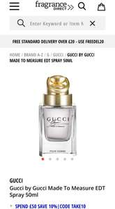 Gucci by Gucci Made To Measure EDT Spray 50ml £29.99 delivered @ Fragrance direct