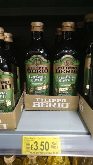 Filippo Berio Olive Oil (750ml) - £3.50 instore @ Asda