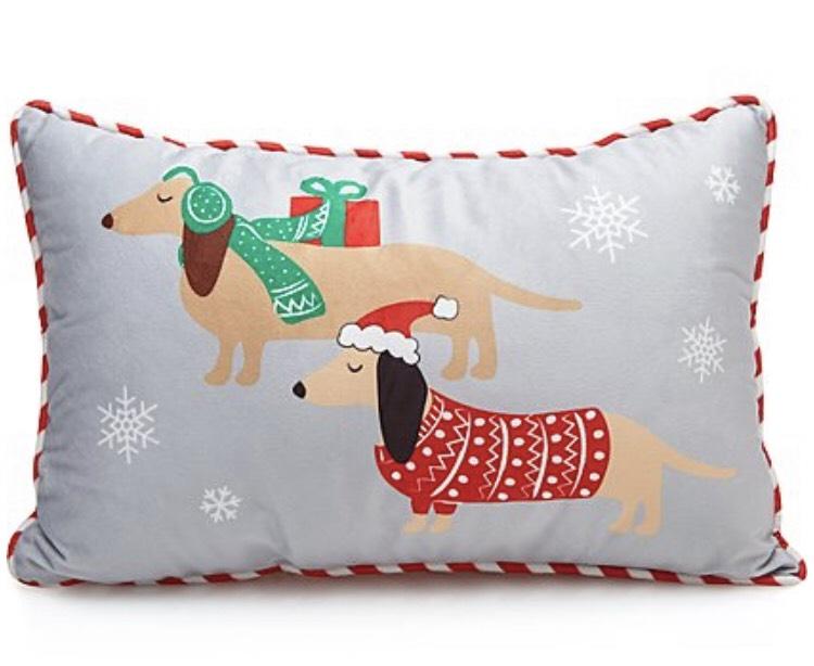 Grey sausage dog reversible cushion £4.20 free c+c @ Asda