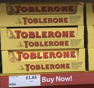 Toblerone 200g only £1.65 @ Heron
