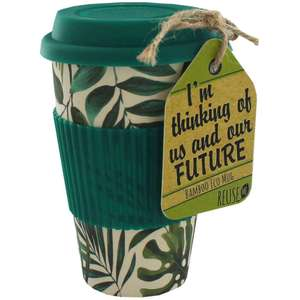 Bamboo eco travel mug £3.20 w/code + free C&C @ The Works