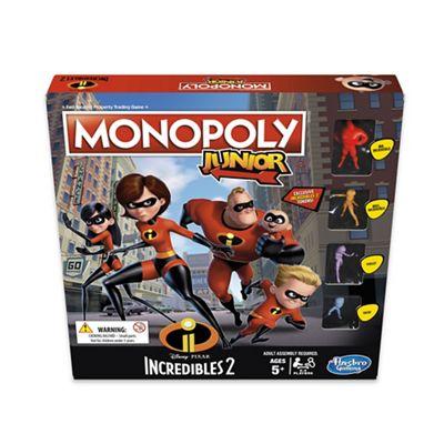 Hasbro Monopoly Junior Disney Pixar Incredibles 2 Game was £17.00 now £10.71 with code RN42 and Free C & C with code SH3J @ Debenhams
