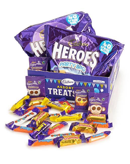 CADBURY HEROES TREAT SIZE BOX 80 fun size £10.50 @ Jacamo