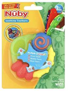Nuby Wacky Baby Soothing Teething Toy £2.32/nuby ice bite teether £3.12@ superdrug Free c+c