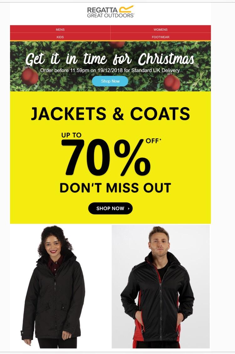 Regatta - upto 70% off Jackets & Coats
