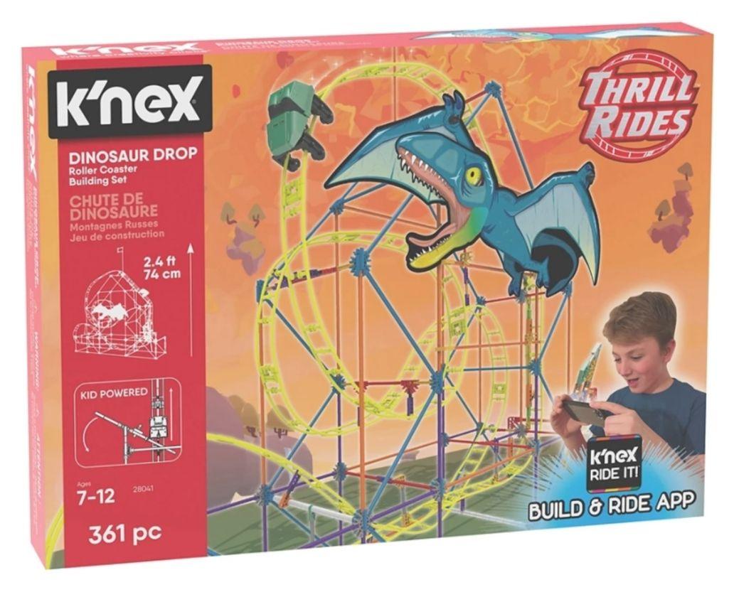 Half price - Knex dinosaur drop roller coaster building set - £17.50 @ Debenhams (£2 C&C / £3.49 delivery)