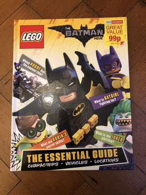 Lego The Batman Movie Essential Guide £0.99 (RRP £9.99) in Home Bargains Cannock