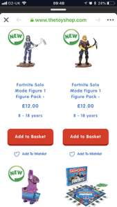 Fortnite merchandise on sale @ The Entertainer