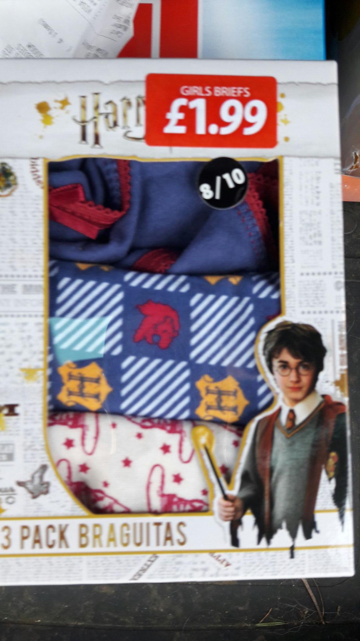 Harry Potter girl underpants £1.99 instore at poundstretcher