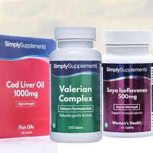 Cod Liver Oil 120 1000mg Capsules - Just Pay P&P £2.49 @ Simply Supplements (Or choose Valerian Complex / Soya Isoflavones)