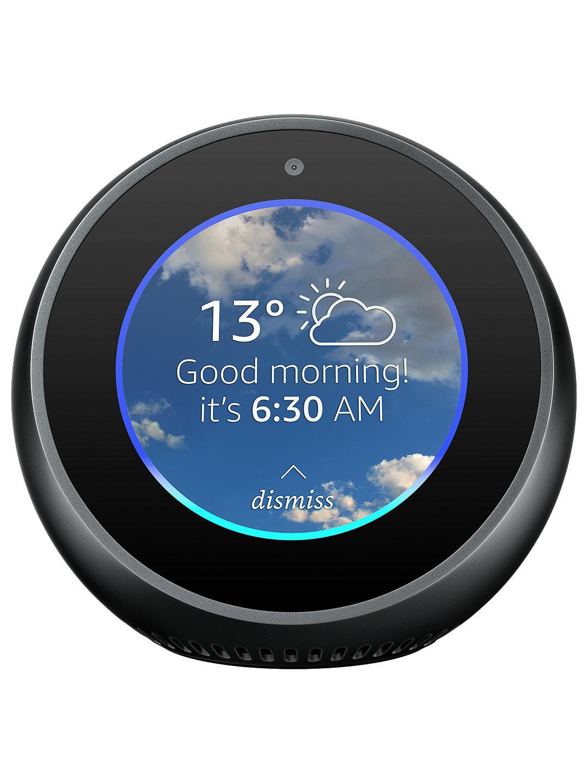 Amazon Echo Spot black/white + 2 Year Guarantee, £89.99 @ John Lewis & Partners