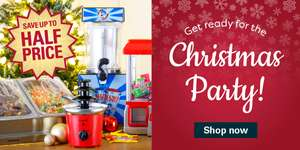 Robert Dyas Christmas Party Sale e.g Slush Puppie with Four Syrups - Blue Raspberry, Green Apple, Red Cherry and Lime £65.99 free c&c