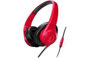 Audio Technica AX3iS Over-Ear Wired Headphones-red, £14.99 at argos/ebay