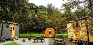 Overnight stay for 4 in luxury Shepherds hut in Lancashire £64 / £16pp inc half term dates & weekends @ Travel Zoo