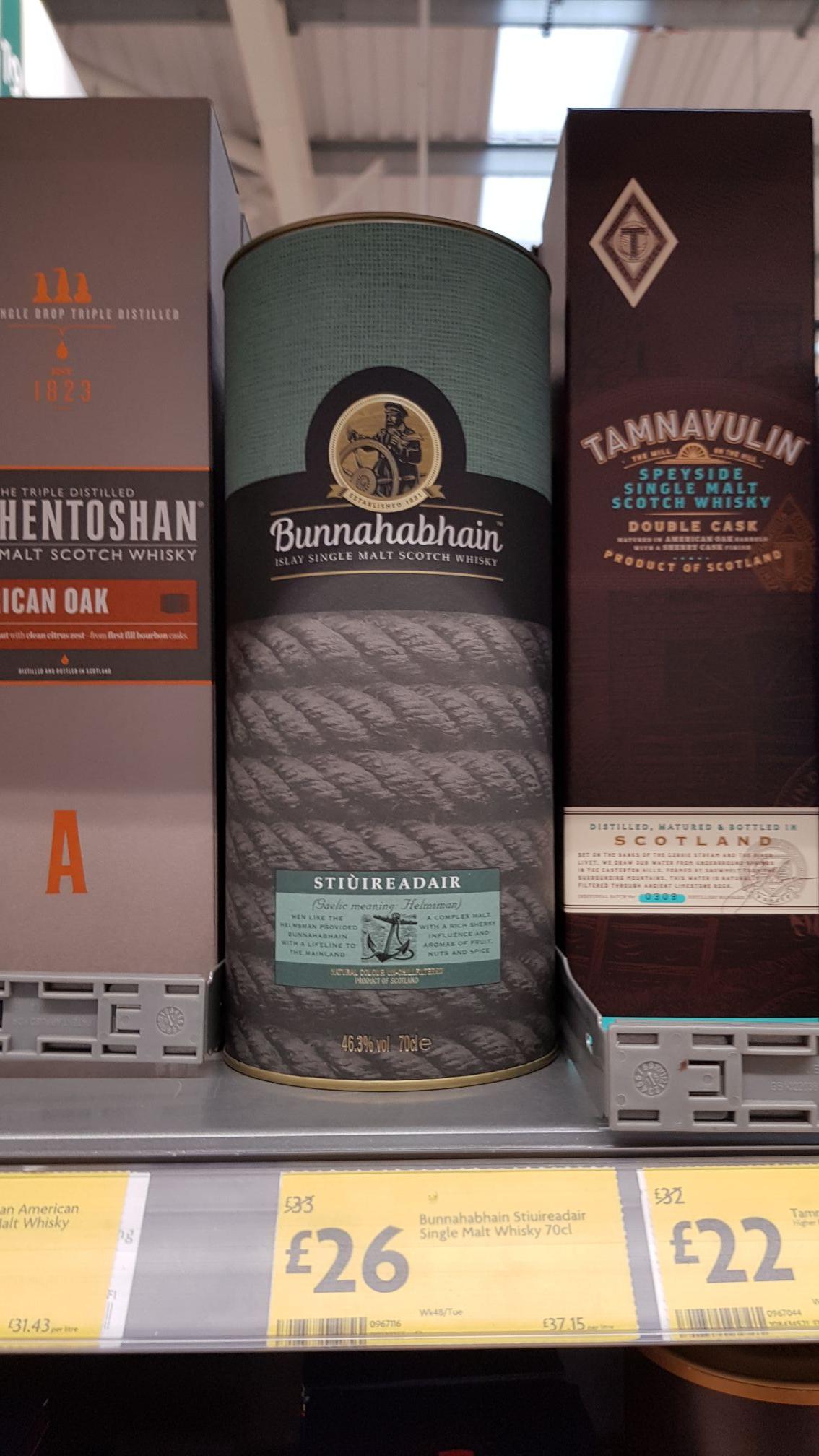 Bunnahabhain Stiùireadair Single Malt Whisky 70cl £26 Morrisons instore