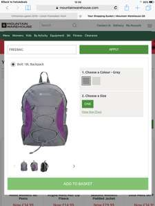 Free Bag with any purchase over £30 @ Mountain Warehouse