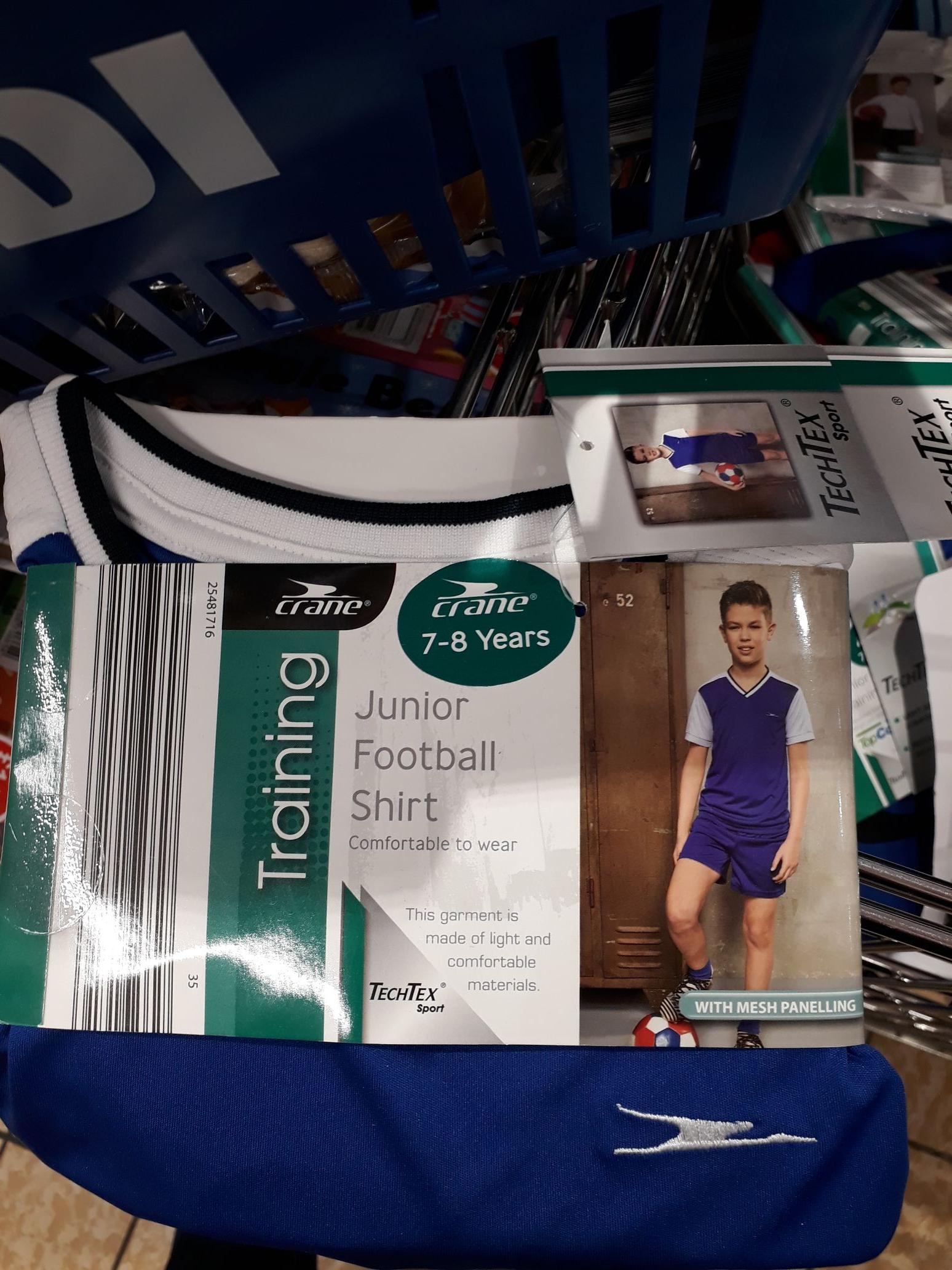 Aldi (Bristol) Kids football kit 49p