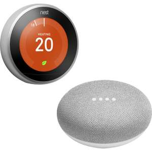 Nest Learning Thermostat + free Google home mini